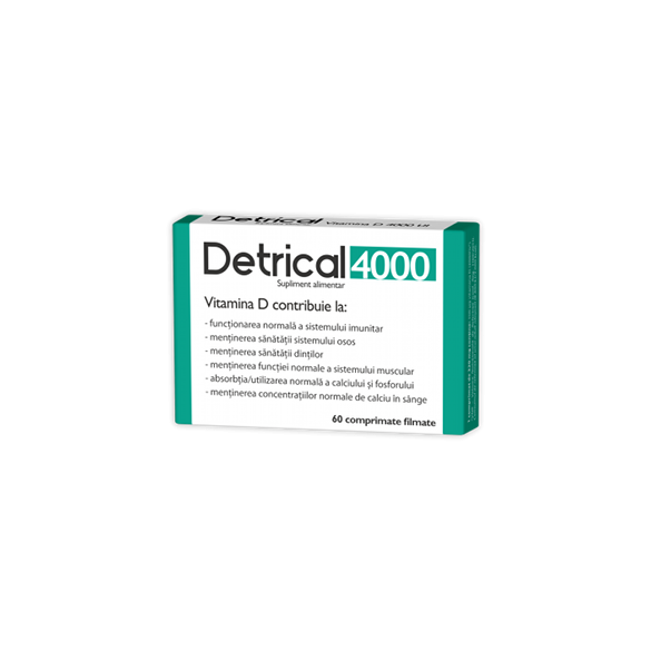 Detrical 4000 UI, 60 comprimate, Zdrovit